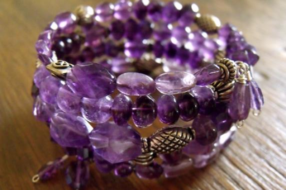 Bohemian Memory Wire Wrap Bracelet