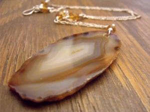 Raw Edged Agate Jewelry