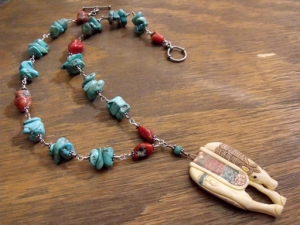 Southwestern Horse Necklace