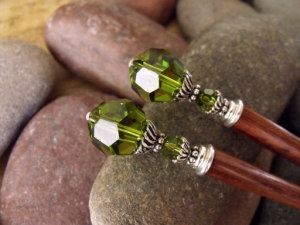 Absinthe Green Hairsticks