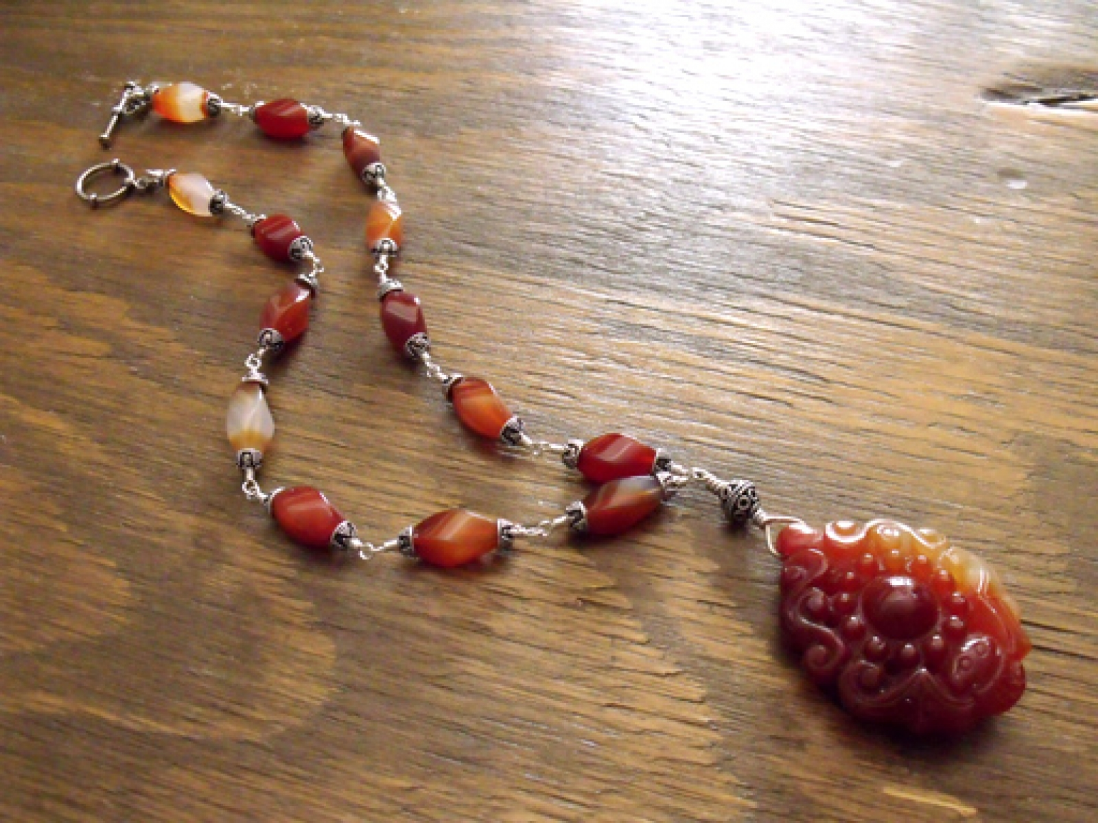 necklaces carnelian grinstein pendant double design silver jewelry format